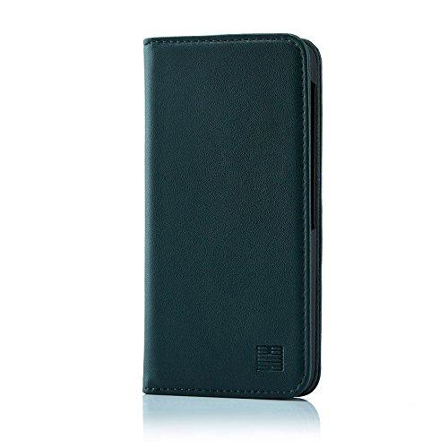 32nd Klassische Series - Leder Mappen Hülle Echtleder Case Cover für BlackBerry DTEK60, Entwurf gemacht Mit Kartensteckplatz, Magnetisch und Standfuß - Jägergrün