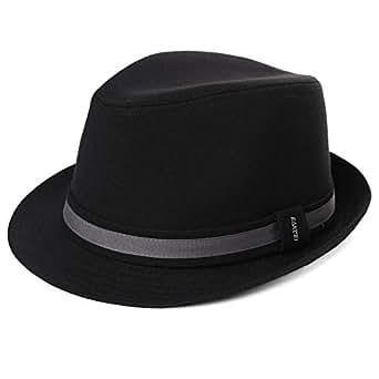 4c7345149aff3 Mens Cloth Trilby Fedora Hat Lightweight Jazz Cap Packable Panama ...