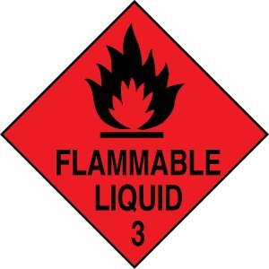 Hazard Diamond Label-Flammable Liquid 3