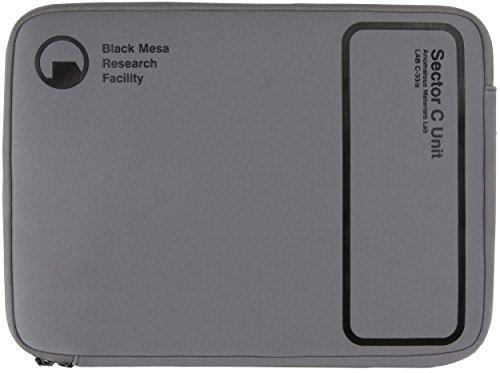 Musterbrand-Half-Life-Notebook-Tasche-Sector-C-15-Neopren-Laptop-Tasche-Grau-One-size
