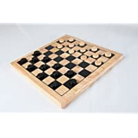 Traditional Wooden Draughts Game