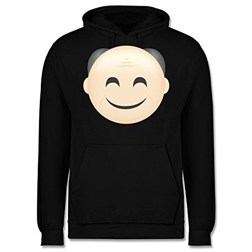 Opa - Opa Emoji - Männer Premium Kapuzenpullover / Hoodie Schwarz