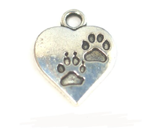 10-x-antique-silver-plated-animal-dog-or-cat-paw-print-heart-charms-with-jump-rings-included-for-att