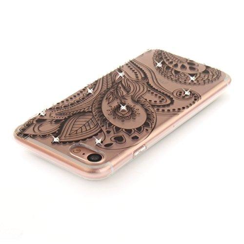 "MOONCASE iPhone 7 Hülle, [Bling Diamond Style] Flexibel Silikon Handyhülle Ultra Slim Rüstung Stoßfest Schutz Cover Case für iPhone 7 4.7"" Magnolia Peacock"