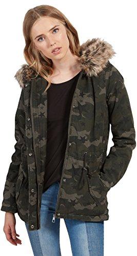TOM TAILOR DENIM für Frauen Jacket Cover-up-Parka mit Sterne-Print white1 M