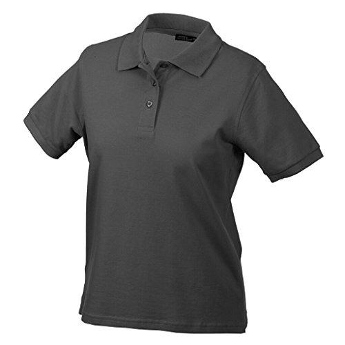 JAMES & NICHOLSON Hochwertiges Polohemd mit Armbündchen Graphite