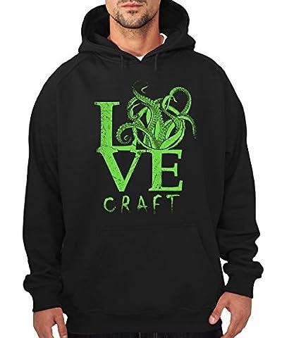 -- Lovecraft -- Boys Kapuzenpullover Schwarz, Größe XL