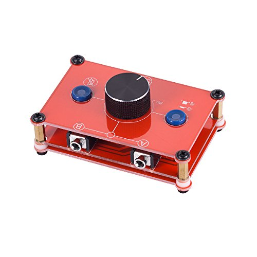 Nobsound Little Bear MC102 Mini 2(1)-IN-1(2)-Out 3.5mm Stereo Audio Switcher Passive Selector Splitter Box Audio-Schalter Stereo Umschalter Passive Selektor (Red)