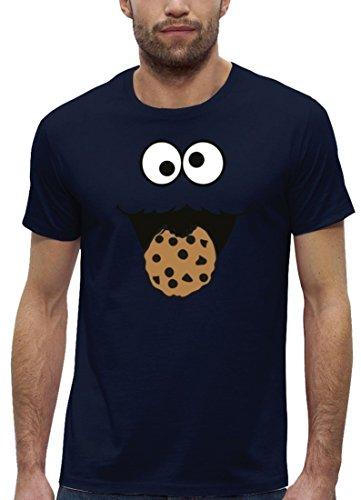 Kostüm Premium Herren T-Shirt aus Bio Baumwolle mit Blue Monster Premium Marke Stanley Stella , Größe: L,Navy