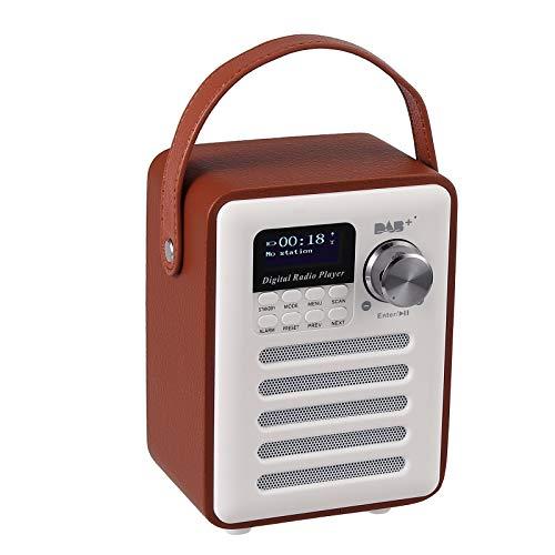ESYNiC DAB DAB+ FM Radio Digitale Portatile LCD Supporta Scheda TF AUX USB Sveglia Batteria Ricaricabile Altoparlante Subwoofer