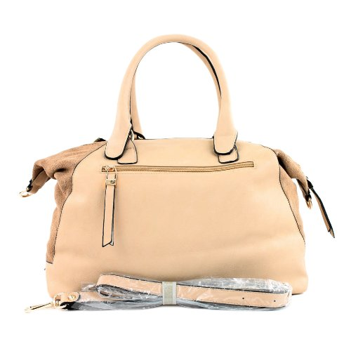 Borsa a sacchetto donna ecopelle borsa shopping bag in similpelle TOP2 LK6074 Beige
