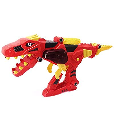 JIANGfu 3 in 1 T-Rex Super Charge Morpher Toy,Transforming Dinosaur Toy Lights Sound Toy Gun Dinosaur Toy Birthday Gifts