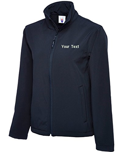 swagwear Embroidered Unisex Soft Shell Your Text Logo Personalised Workwear Uniform Soft Shell 3 Colours (XS-3XL) 612