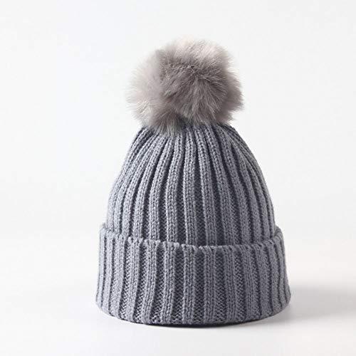 Huichao Bonnet Enfant 5 Couleurs, Bonnet en Tricot d'automne et d'hiver, Bonnet Chaud,Gray