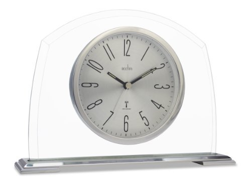 Acctim 77097 Harman Radio Controlled Mantel Clock, Silver by Acctim (Harman Clock Radio)