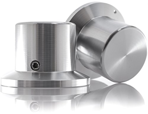Hifi Lab Poti-Knopf Alu 38x26x26 Audio Drehknopf Aluminium massiv Silber 6mm Potentiometer Knopf Alu-Knopf