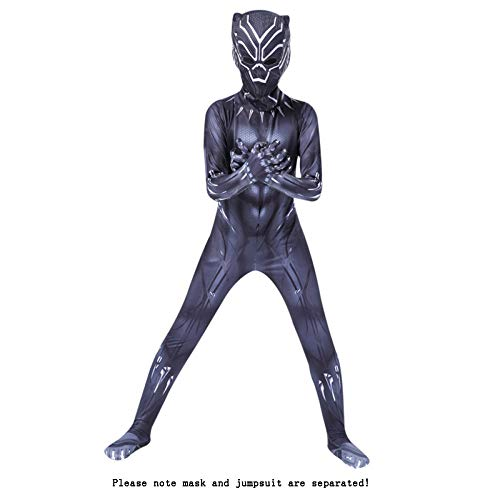 ASJUNQ The Avengers Black Panther Kinder Adult Movie Cosplay Kostüm Halloween Party Zubehör Requisiten,BlackPanther-XXL (Black Adult Movies)
