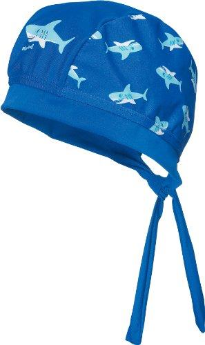 Playshoes Jungen Mütze UV-Schutz Kopftuch Hai Blau (original) 51 cm