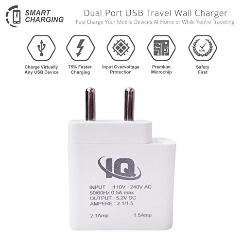 Nokia 515 Dual SIM Charger Dual USB Port 2 A ( 2 Amp,1.5Amp)/ Travel Charger / Mobile Charger With 1 Meter USB Cable -White by Sublicart  available at amazon for Rs.279