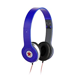 Casque Ecouteur Réglable Stéréo Audio Pour DJ PSP MP3 MP4 PC Bleu