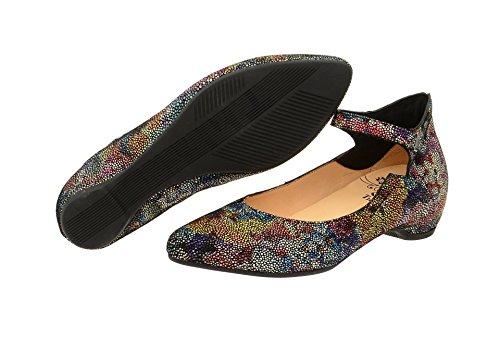 Think Damen Imma Schuhe Multicolor Print Ballerinas kombi