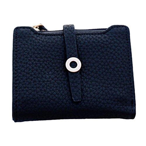 Bluelans Frauen Fashion Faux Leder Bifold Münze Geldbörse Halter kurz Brieftasche Weihnachts Geschenk, Kunstleder, schwarz, 11.5cm x 9.5cm x 1.5cm/4.53