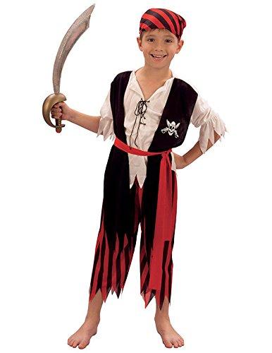 a724b9c09f2be0 Bristol Novelty - CC629 - Costume de Jim Le Pirate - pour garçon