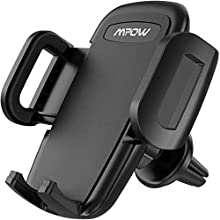 Mpow Car Phone Holder, Universal Air Vent Car Phone Mount with One Button Release and Dual-sized Clip for iPhone SE/11 Pro/11/XS Max/XS/XR/X/8/8 Plus/7/7 Plus/6/6 Plus, Galaxy S20/S10/S9/S8 and More