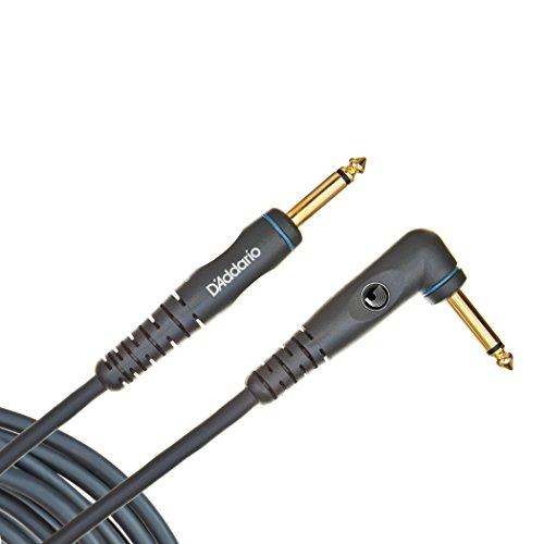 Planet Waves PW-GRA-10 - Cable jack a jack (acodado, 3 m, conector chapado en oro), color negro
