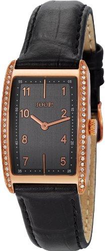 Joop - JP101012S03 - Transcendence Swiss Made - Montre Femme - Quartz Analogique - Cadran Noir - Bracelet Cuir Noir