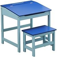 Preisvergleich für Premier Housewares Kinder Schreibtisch-Set, mit Tisch und Stuhl, 57x55x48cm, 2-teilig Tisch und Stuhl blau
