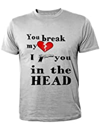 Mister Merchandise Homme Chemise Cool Fun T-Shirt Love Peace and Happyness