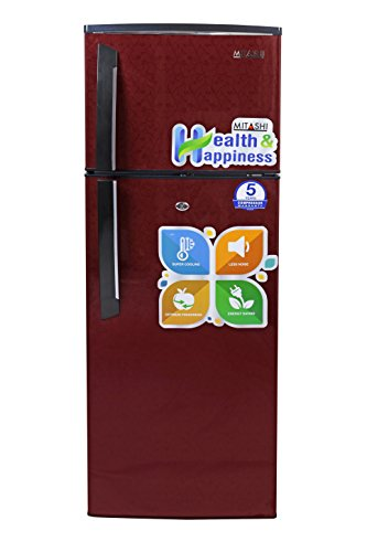 Mitashi 240 L 3 Star Direct-Cool Double-Door Refrigerator (MiRFDDM240V25, Maroon)
