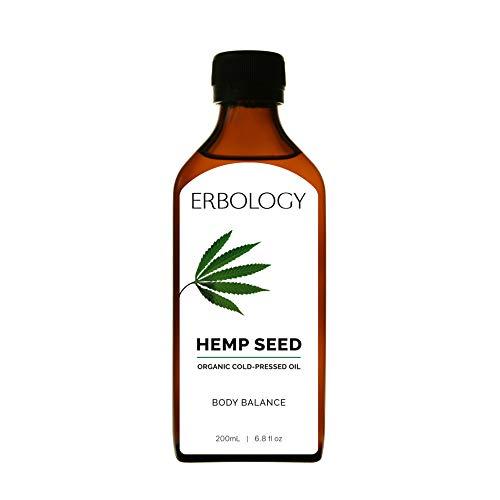 Aceite de Cáñamo Bio 200ml - Prensado en Frío - Rico en Omega 3, Omega 6 y Vitamina D - Equilibrio Nutricional
