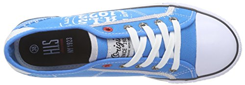 HIS 151-018, Baskets Basses femme Bleu - Blau (royal blue)