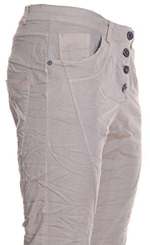 """Jeans pour femme coupe boyfriend aladin harem pantalon chino baggy taille basse boyfriendjeans boyfriendhose batik look """"destroyed"""" Marron - Taupe"""