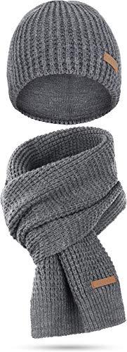 bestehend aus Mütze und Schal Farbe Nampa/Grau-meliert ()