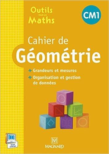 Cahier de géometrie CM1 : Grandeurs et mesures, organisation et gestion de données de Sylvie Carle ,Sylvie Ginet ,Stéphanie Grison ( 26 mars 2015 )