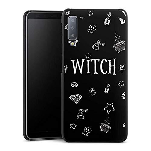 DeinDesign Hülle kompatibel mit Samsung Galaxy A7 (2018) Handyhülle Case Witch Hexe Halloween