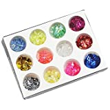 Generic Manicure Crystal Jewelry A 12 Color Shell Paper Glitter Nail Polish DIY Shiny Paper Decoration Materials #05074030