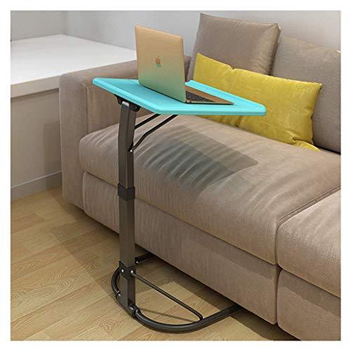 Glas-büro, Konsole-tabelle (ELYSYSRL Couchtische Nachttisch Konsole Faltbar Heben Mobile Sofa Beistelltisch Einfach Kaffeetisch-Blau-16.93X16.93Zoll)