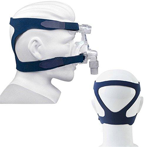 Cpap-maske Kopfbedeckung (Finlon Universal Kopfbedeckung Komfort Gel Vollmaske Ersatzteil CPAP Kopfband für Respironics Resmed Resmart ohne Maske)