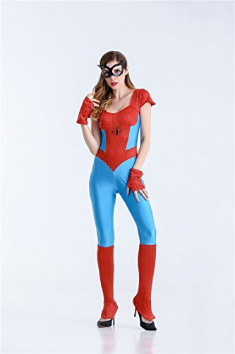 Kostüm Bodysuit Spiderman (Hot Sexy Spider-Girl Kostüm mit)