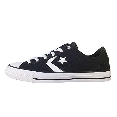 Converse Star Player Ox, Zapatillas de Deporte Unisex Adulto, Negro (Black/White/White 001), 43 EU