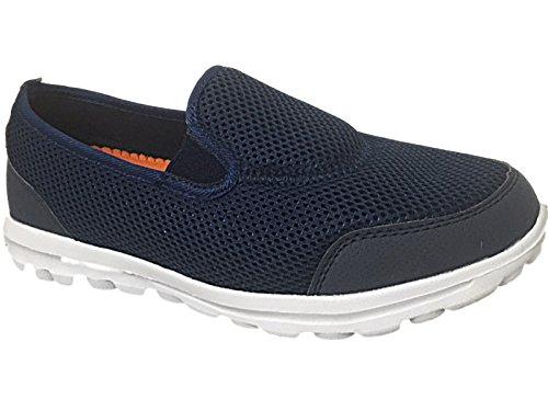 """""""Get Fit�?Flexi-Go-Turnschuhe für Erwachsene, Sportschuhe, unisex und komfortabel, Schuhgrößen 35,5-46 marineblau/orange"""