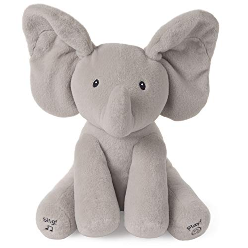 GUND 6053047 - Interaktiver Flappy der Elefant, mit deutscher Sprache, ca. 30 cm