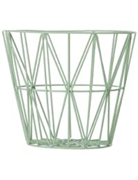 Ferm Living Wire Basket - Mint - Small - h35 x b40 cm