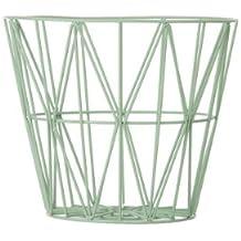 Ferm Living Wire Basket - Mint - Small - h35 x b40 cm