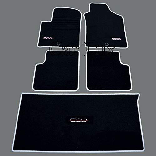 Car Lux ar04070 - kit de Tapis de Voiture a Mesure et Coffre pour Edition Velours Passepoil Gris pour 500 Depuis