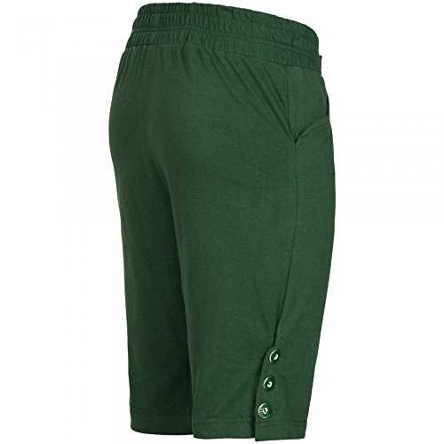 PAULGOS Herren Kurze Jogginghose Optik Trachten Lederhose bestickt in 3 Farben Gr. 44-60, Farbe:Grün, Größe Lederhose:54 - 2